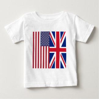 Union Jack y banderas de los Estados Unidos de Playera