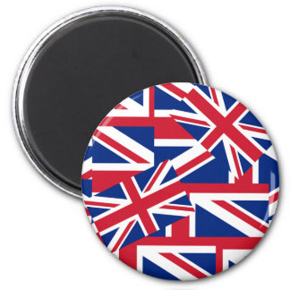 Union Jacks Galore 2 Inch Round Magnet