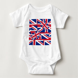 Union Jacks Galore Baby Bodysuit