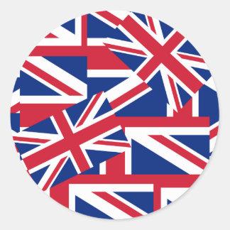 Union Jacks Galore Classic Round Sticker
