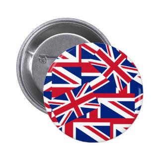Union Jacks Galore Pinback Button