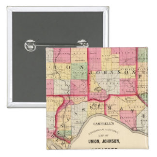Unión, Johnson, Alexander, Pulaski Pin Cuadrada 5 Cm