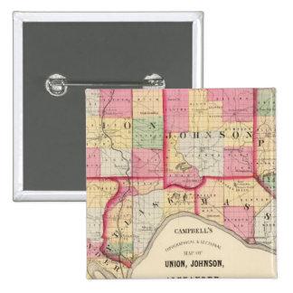 Union, Johnson, Alexander, Pulaski Pinback Button