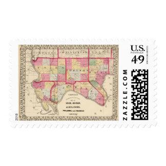Union, Johnson, Alexander, Pulaski Stamps