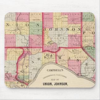 Unión, Johnson, Alexander, Pulaski Alfombrilla De Raton