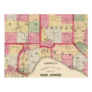 Unión, Johnson, Alexander, Pulaski Tarjeta Postal