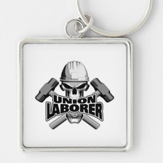 Union Laborer: Skull and Sledge Hammers Keychain