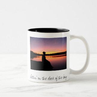 Union Lake, California Two-Tone Coffee Mug