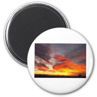 Union Lake Sunrise Feb 14th 2011 - Longmont - 2 Inch Round Magnet