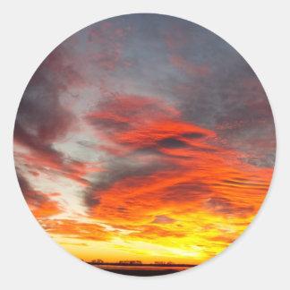 Union Lake Sunrise Feb 14th 2011 - Longmont - Classic Round Sticker