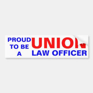 UNION LAW OFFICER BUMPER STICKER