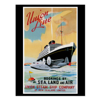 Union Line Steamship Ocean Liner Postcard