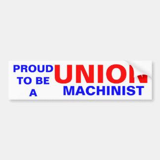 UNION MACHINIST BUMPER STICKER