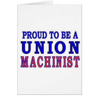 UNION MACHINIST CARD