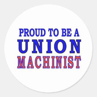 UNION MACHINIST CLASSIC ROUND STICKER