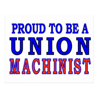 UNION MACHINIST POSTCARD