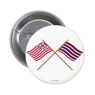 Unión magnífica cruzada y banderas del pie Mifflin Pins