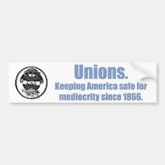 Union Mediocrity Car Bumper Sticker