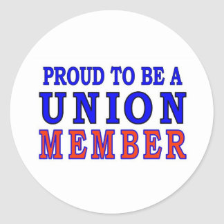 UNION MEMBER CLASSIC ROUND STICKER
