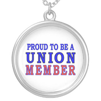 UNION MEMBER SILVER PLATED NECKLACE