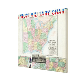 Union Military Chart Canvas Print