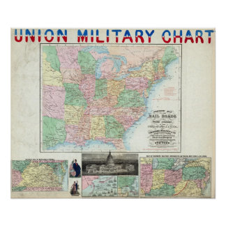 Union Military Chart Poster