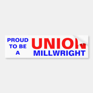 UNION MILLWRIGHT BUMPER STICKER