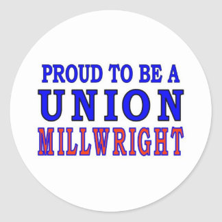 UNION MILLWRIGHT CLASSIC ROUND STICKER