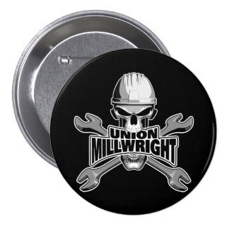 Union Millwright: Skull and Wrenches Button