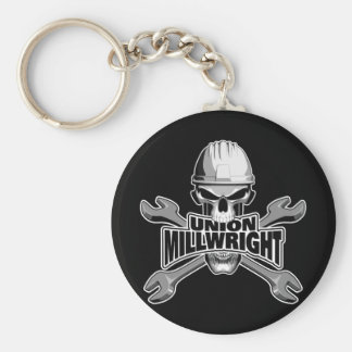 Union Millwright: Skull and Wrenches Keychain