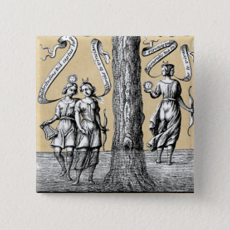 Union of Opposites in Alchemy Button