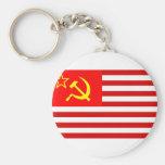 Union Of Soviet States Of America, Democratic Repu Key Chains