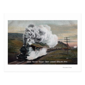 Union Pacific Freight Train View Postcard