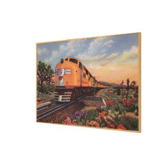 "Union Pacific Railroad ""City of Los Angeles"" Canvas Print"