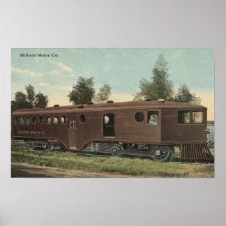 Union Pacific RailroadMcKeen Motor Car View Poster