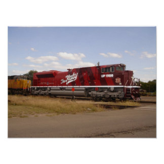 Union Pacific SD70ACe 1988 in Katy Heritage Scheme Poster