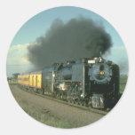 Union Pacific splendor, No. 8444 heads for Denver Round Stickers