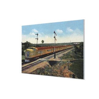 "Union Pacific Streamliner ""City of Denver"" Canvas Print"
