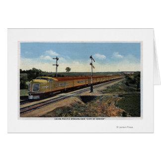 "Union Pacific Streamliner ""City of Denver"" Card"