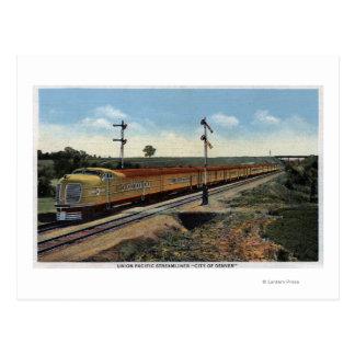"Union Pacific Streamliner ""City of Denver"" Postcard"