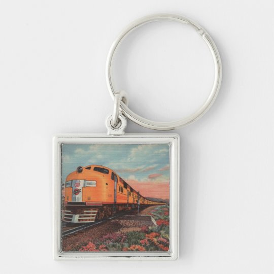 Union Pacific Train, City of L.A. Keychain