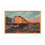 Union Pacific Train, City of L.A. Post Cards