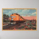 Union Pacific Train, City of L.A. Poster