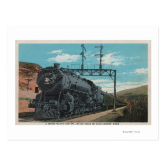 Union Pacific Train, Echo Canyon, UtahUtah Postcard