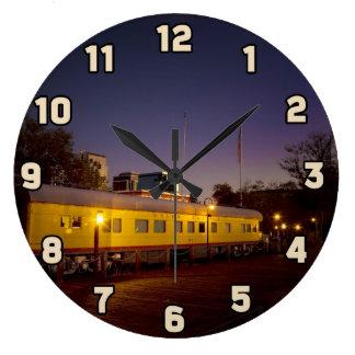 Union Pacific Train in Old Sacramento Large Clock