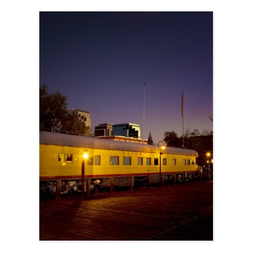 Union Pacific Train in Old Sacramento Postcard