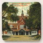 Union Passenger Depot, Cedar Rapids IA Vintage Beverage Coasters
