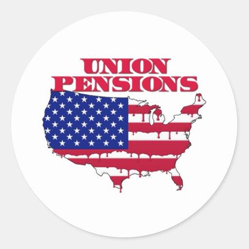 Union Pensions Classic Round Sticker