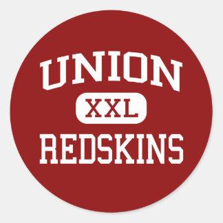 Unión - pieles rojas - intermedio - flecha rota pegatina redonda