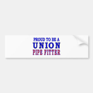 UNION PIPE FITTER BUMPER STICKER